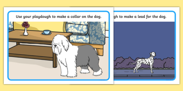 Dog Themed Playdough Mats - Dame Lynley Dodd, hairy maclary, playdough mats