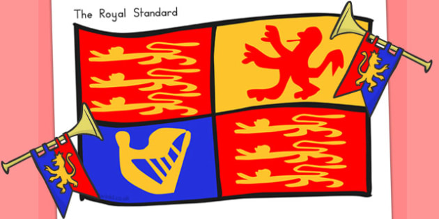 The Royal Standard Display Poster - royal family, queen, royality