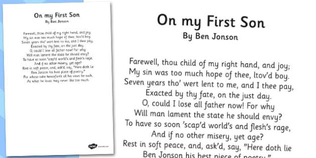 On My First Son - Poem by Ben Jonson