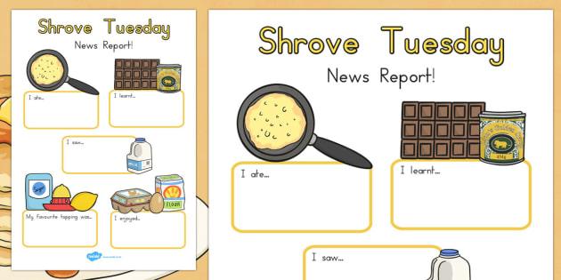 Shrove Tuesday Event Writing Report - australia, shrove, Tuesday