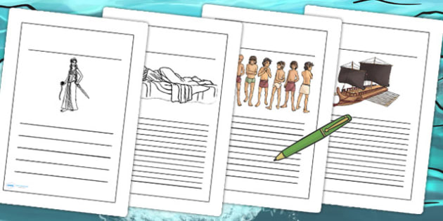 Theseus and the Minotaur Writing Frames - story, writing template