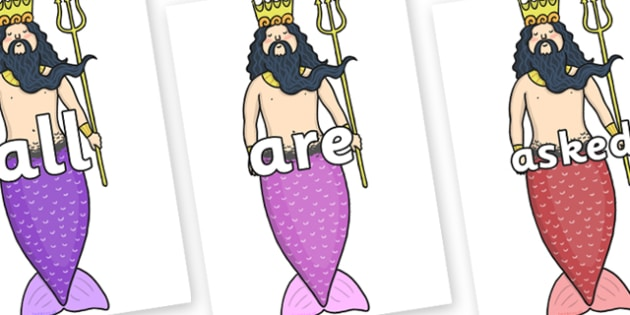 Tricky Words on Sea King - Tricky words, DfES Letters and Sounds, Letters and sounds, display, words