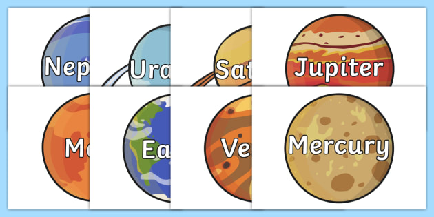 The Planet Names Words on Planets - australia, planets, names