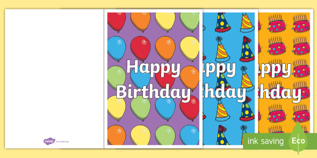 Birthday Card Writing Template Blank Editable Card Templates - Blank birthday card template 2