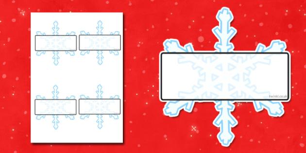 Self Registration Snowflakes Editable  - snowflakes, self reg
