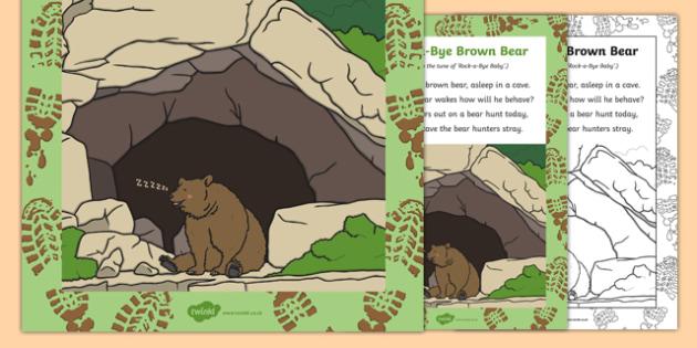 Rock-a-Bye Brown Bear Song
