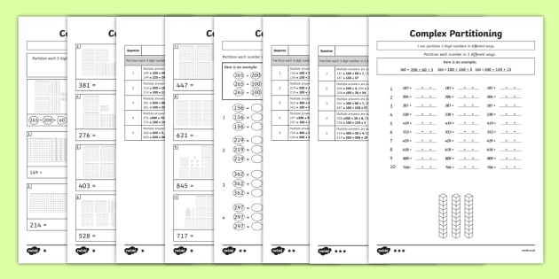 3 digit number complex partitioning differentiated worksheet 3 digit number complex partitioning differentiated worksheet activity sheets ks1 ks2 ibookread Read Online