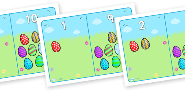 Easter Egg Number Bonds - numbers, bonds, number, number bonds to, easter egg numbers, easter number bonds, egg number bonds, counting, number recognition, maths, math, numeracy