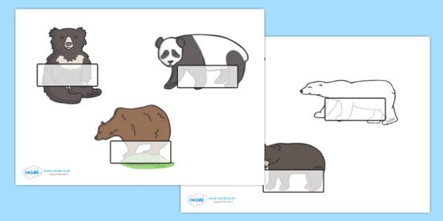 Editable Drawer - Peg - Name Labels (Bears) - Bear Label Templates, rockets, Resource Labels, Name Labels, Editable Labels, Drawer Labels, Coat Peg Labels, Peg Label, KS1 Labels, Foundation Labels, Foundation Stage Labels, Teaching Labels