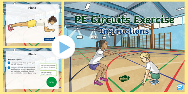 Pe Circuits Exercise Instructions Powerpoint Teacher Made