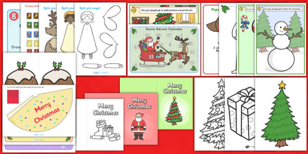 Christmas Craft Pack - christmas, craft, pack, craft pack, art
