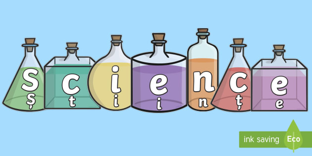 Science On Science Bottles Display Cut Outs English/Romanian