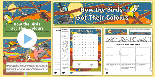 Aboriginal Dreamtime How the Birds Got Their Colours Activity Pack-Australia