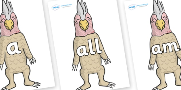 Foundation Stage 2 Keywords on Wild Thing (4) to Support Teaching on Where the Wild Things Are - FS2, CLL, keywords, Communication language and literacy,  Display, Key words, high frequency words, foundation stage literacy, DfES Letters and Sounds, L