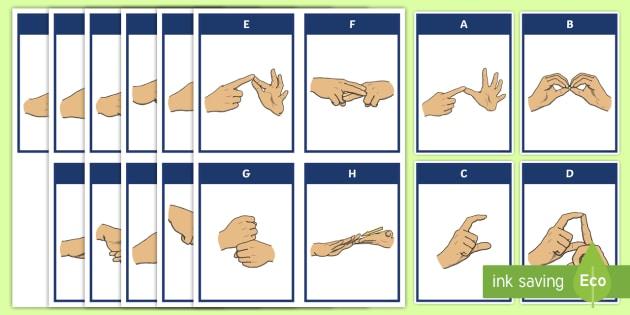 graphic regarding Algebra Flashcards Printable called Auslan Alphabet Flashcards