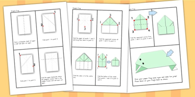 Origami Activity Sheet Frog - origami, chinese new year, games, worksheet
