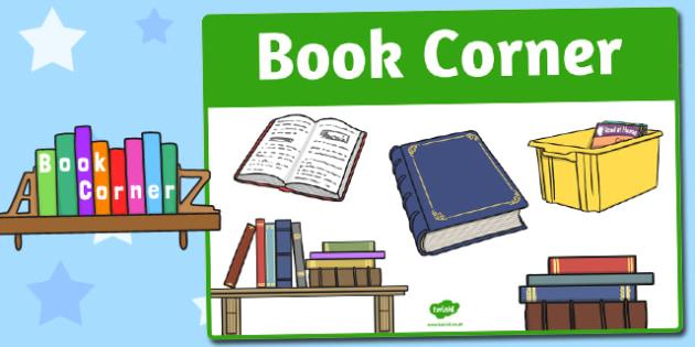Book Corner Sign - area, sign, area sign, book corner, book