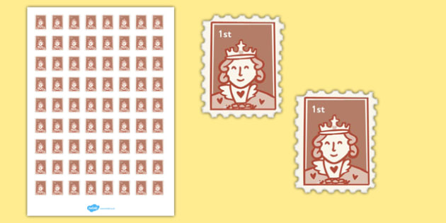 Post Office (Role Play) First Class Stamps - Stamps, stamp, role play