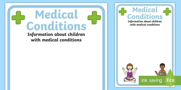 pupil medical conditions information poster medical medical