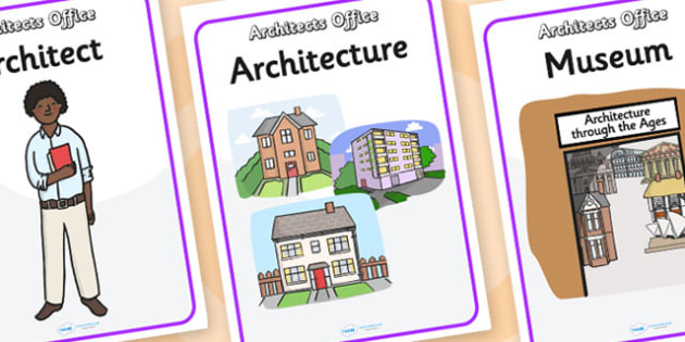 Architects Office Role Play Poster - architects office, architects, role play, poster, role play poster, poster for role play, role play props, display