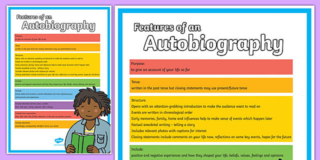 Features of an Autobiography Poster - autobiography, poster