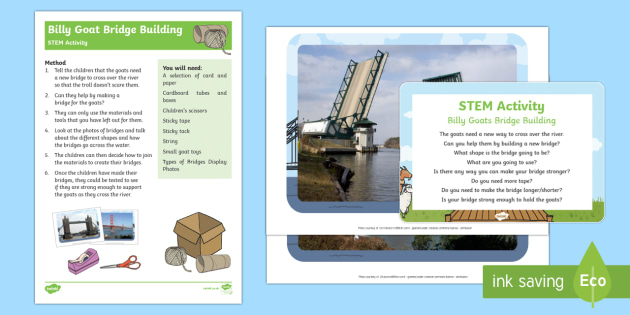 Billy Goats Bridge Building STEM Activity and Resource Pack