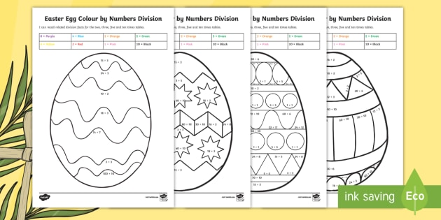 year 3 easter egg division colour by number australia easter maths easter. Black Bedroom Furniture Sets. Home Design Ideas