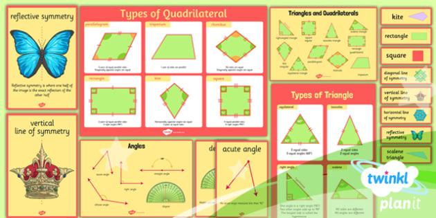 PlanIt Maths Y4 Properties of Shapes Display Pack