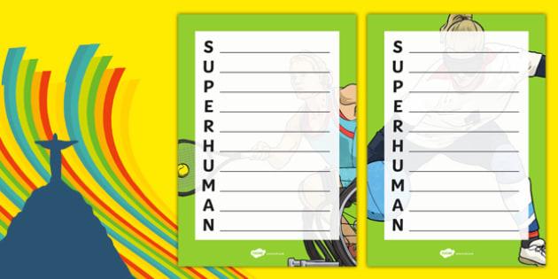 Superhumans  Acrostic Poem