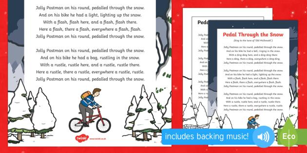 Pedal Through The Snow Song