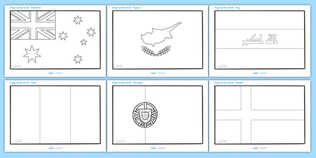FREE! - Flags of the World Coloring Sheets - Flags of the ...