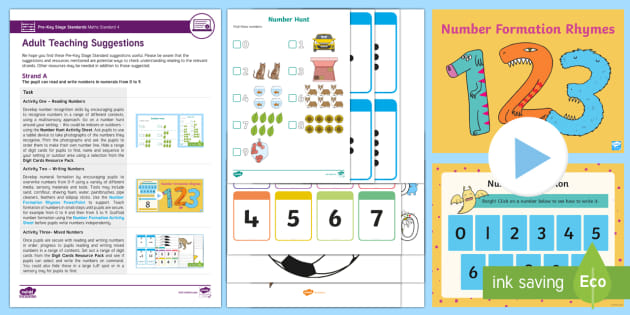 Pre-Key Stage Standards Maths Standard 4 Strand A Resource Pack