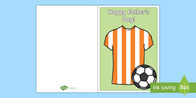 Football Themed Father's Day Gift Card Template