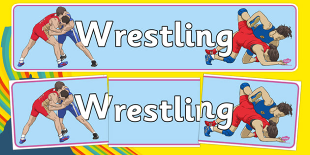 The Olympics Wrestling Display Banner - wrestling, Olympics, Olympic Games, sports, Olympic, London, 2012, display, banner, poster, sign, activity, Olympic torch, medal, Olympic Rings, mascots, flame, compete, events, tennis, athlete, swimming