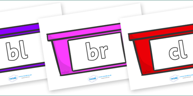 Initial Letter Blends on Trays - Initial Letters, initial letter, letter blend, letter blends, consonant, consonants, digraph, trigraph, literacy, alphabet, letters, foundation stage literacy