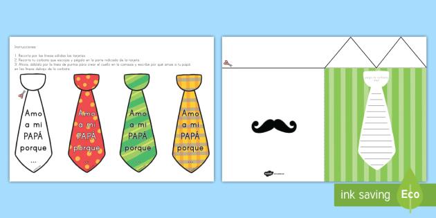 Manualidad: Tarjeta de Corbata - Día del Padre