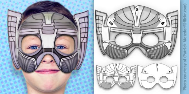 photograph about Superhero Printable Mask titled 3D Legendary Superhero Mask Printable - 3d, legendary