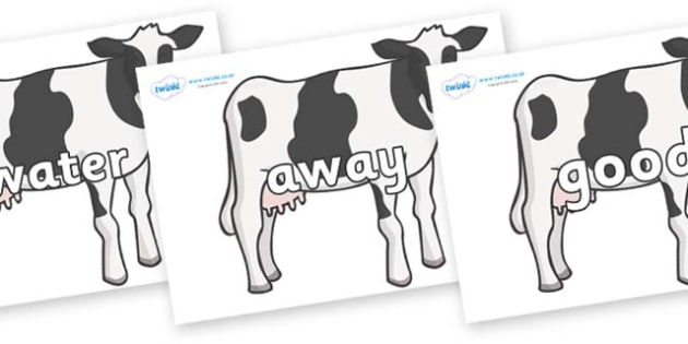 Next 200 Common Words on Cows - Next 200 Common Words on  - DfES Letters and Sounds, Letters and Sounds, Letters and sounds words, Common words, 200 common words