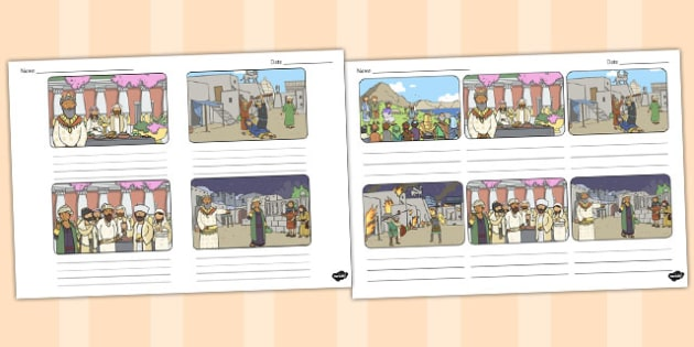 Wedding Feast Storyboard Template  Parables Wedding Feast
