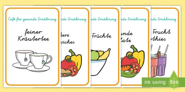 Café für gesunde Ernährung Poster format A4 - Café für