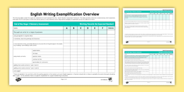 checklist just for exemplification essay