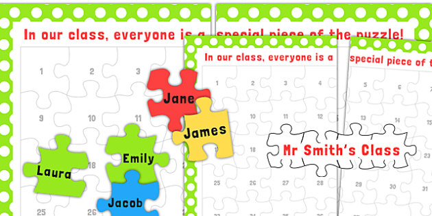 Class Puzzle Poster - puzzles, games, activities, display, poster