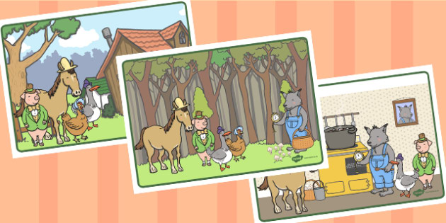 Story Sequencing to Support Teaching on What's The Time, Mr Wolf? - story, sequencing, wolf