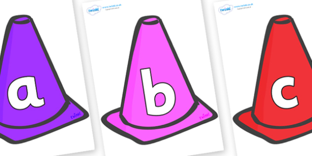 Phoneme Set on Cones - Phoneme set, phonemes, phoneme, Letters and Sounds, DfES, display, Phase 1, Phase 2, Phase 3, Phase 5, Foundation, Literacy