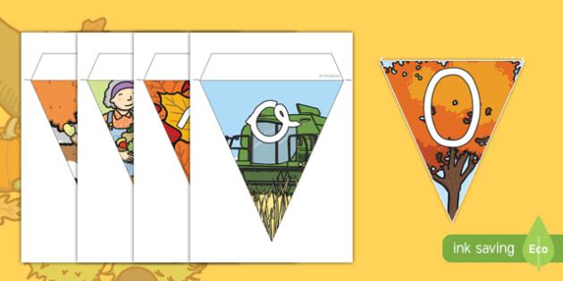 Banderitas de exposición otoño
