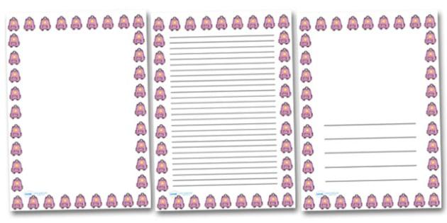 Rucksack Portrait Page Borders- Portrait Page Borders - Page border, border, writing template, writing aid, writing frame, a4 border, template, templates, landscape