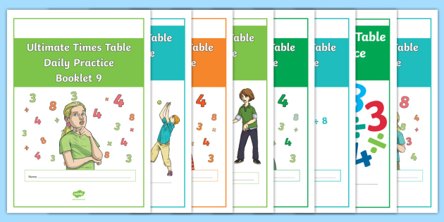 Ultimate Times Table Daily Practice Booklets X3 X4 X8 Resource Pack