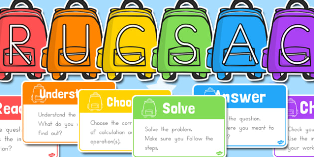 rucsac problem solving posters