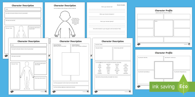 Character description writing activities ks2 bitesize