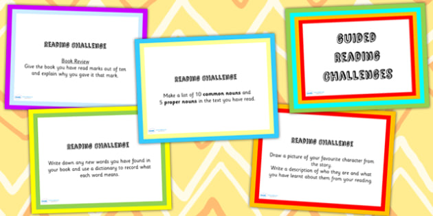 Guided Reading Challenge PowerPoint - read, reading help, books